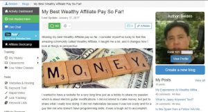 My Best Pay So far- Wealthy Affiliate