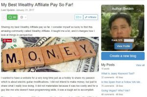 My Highest WA Pay So Far-Wealthy Affiliate