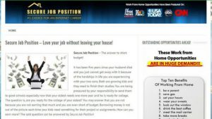 WHAT IS SECURE JOB POSITION ABOUT, A SCAM OR LEGIT-