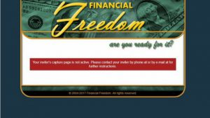 INACTIVE SPONSORS PAGE-FINANCIAL FREEDOM SITES REVIEW. A CASH GIFTING SCAM!