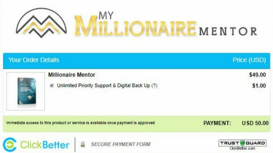 CLICKBETTER- WHAT IS MY MILLIONAIRE MENTOR ABOUT, A SCAM OR LEGIT-