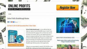 WHAT IS ONLINE PROFITS BREAKTHROUGH ABOUT, A SCAM OR LEGIT-