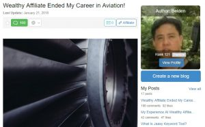 Wealthy Affiliate Ended My Career in Aviation!