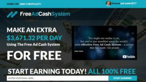 Free Ad Cash System Review. What is it About, a Scam?
