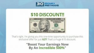 The $10 Discount 30 Minute Money Methods