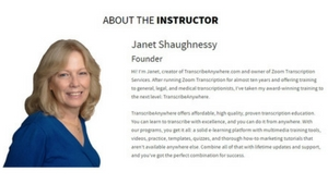 The Founder- Janet Shaughnessy