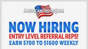 American Online Jobs Review. A $1600 Per Week Scam?